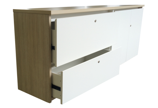 Credenza with Fingerpull Drawer and Door