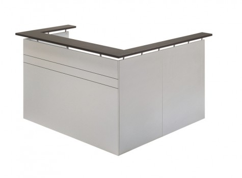Tempo Reception Desk Titanium