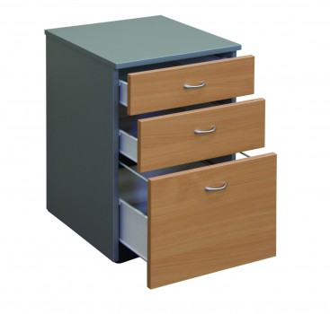 Mobile PedD1F Select Beech Titanium Drawers Open17